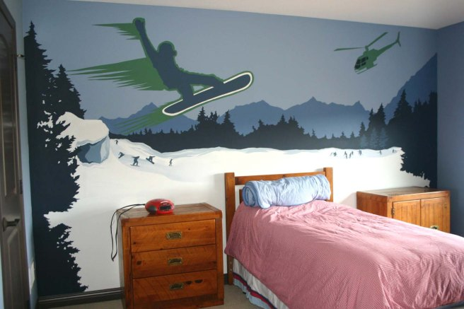 snow boarder room